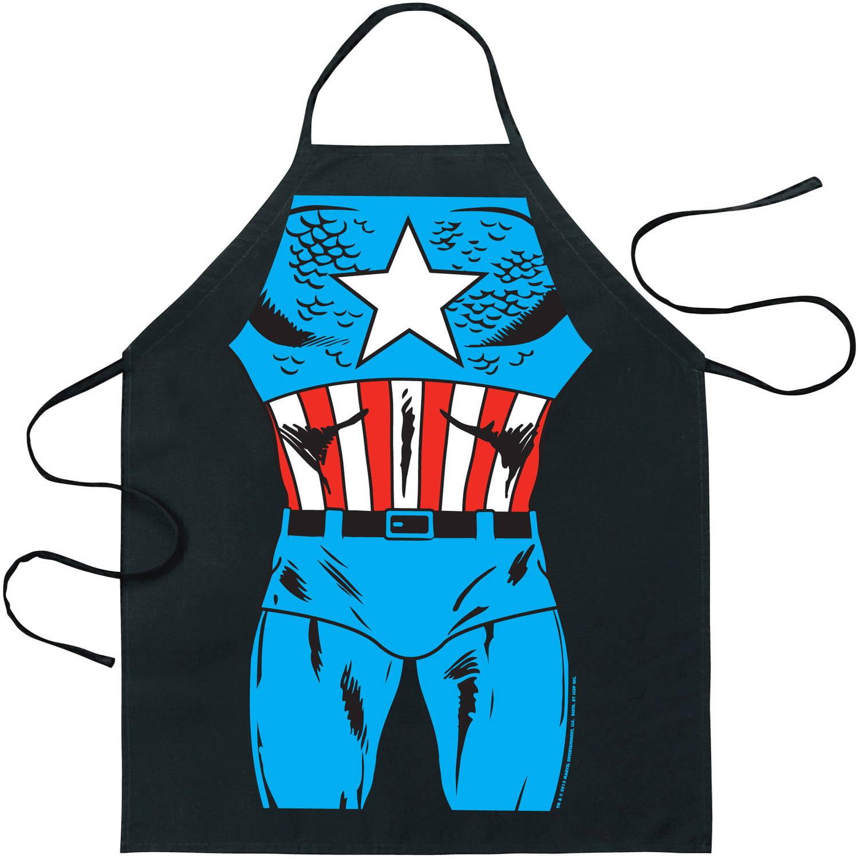 White apron dc nutrition - Marvel Comics Captain America Be The Hero Apron
