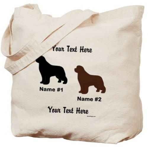 Cafepress Personalized Black And Brown Newf Dog Tote Bag