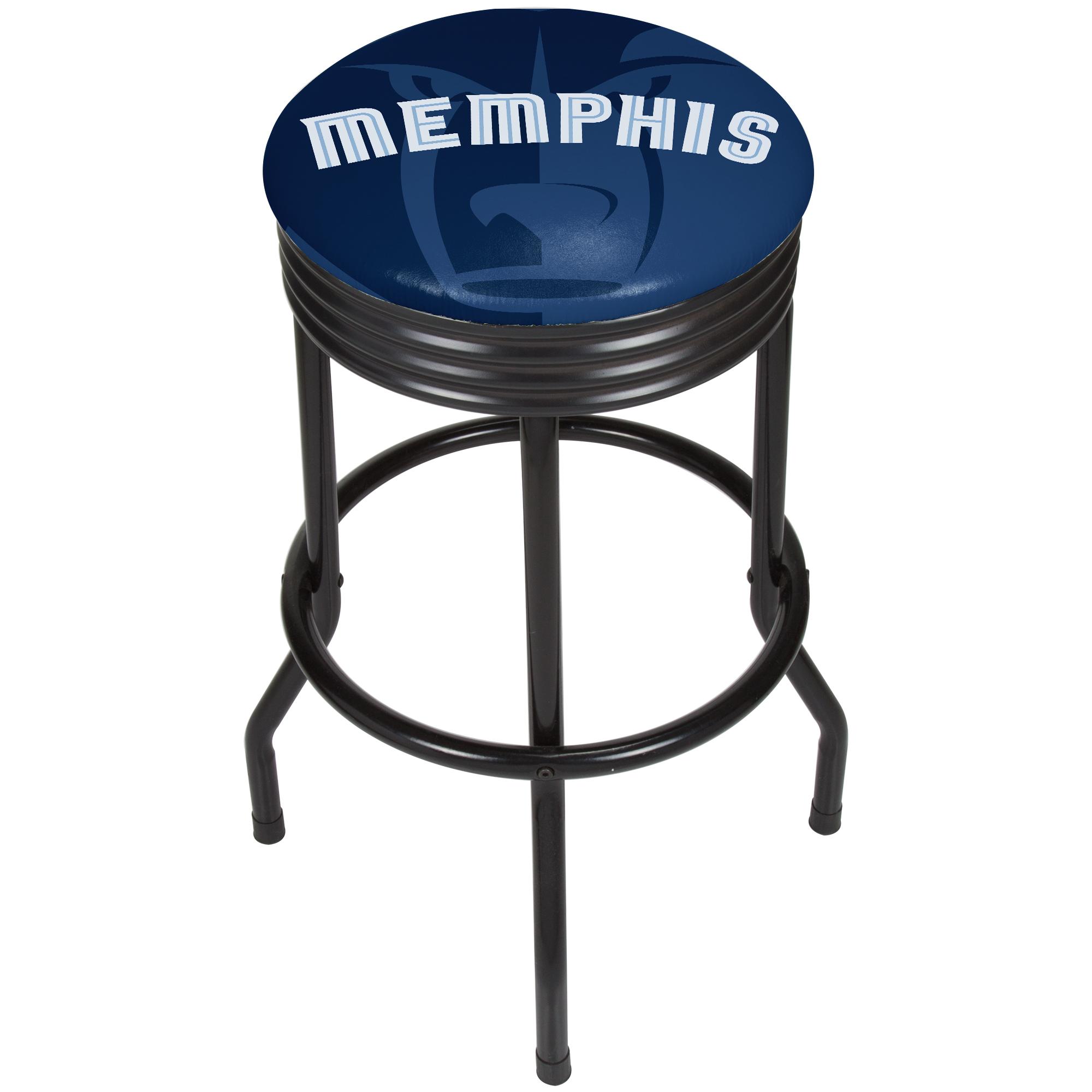 NBA Black Ribbed Bar Stool - Fade - Memphis Grizzlies