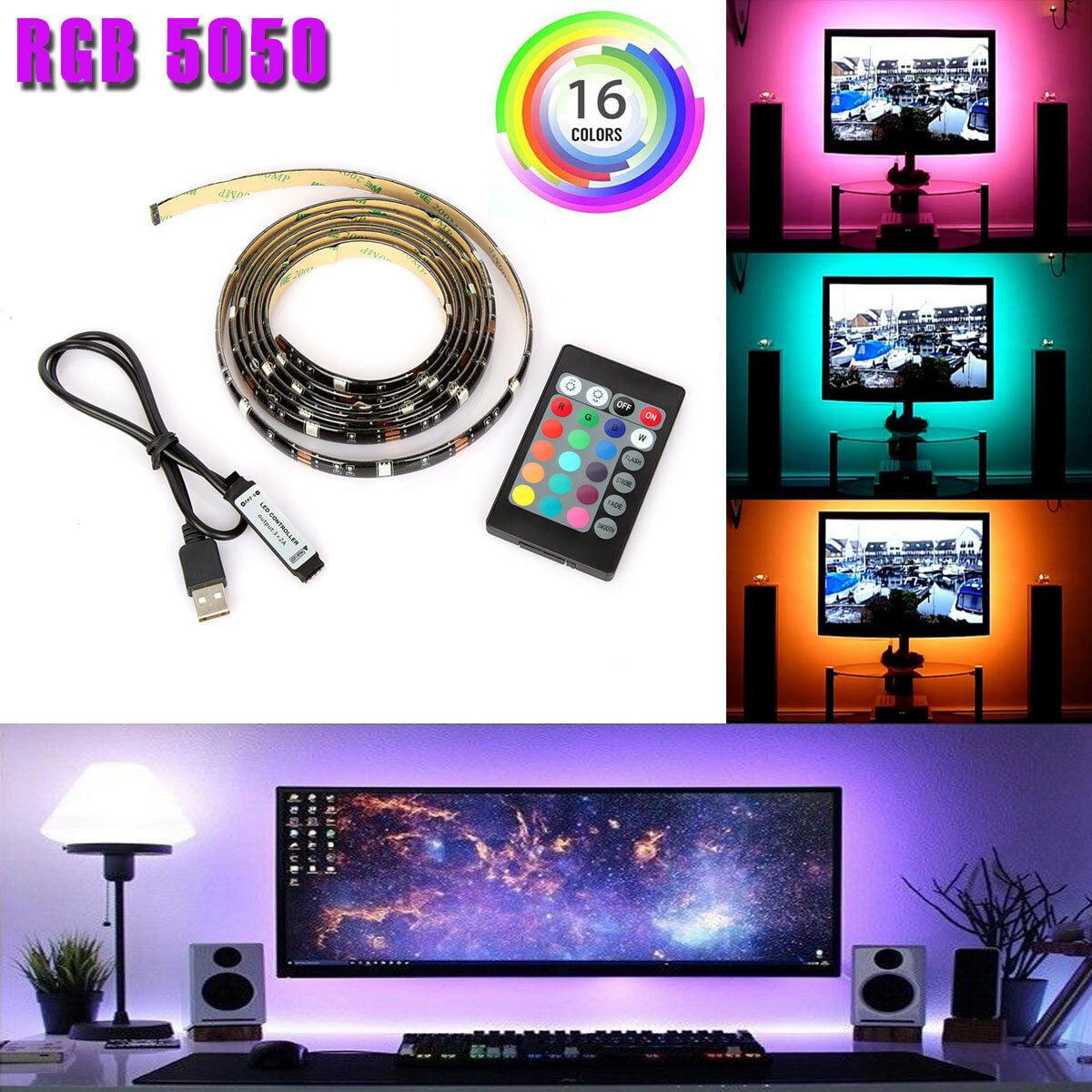 USB LED Strip Lights TV Back Light 5V 5050 RGB Color Change Bluetooth APP Remote