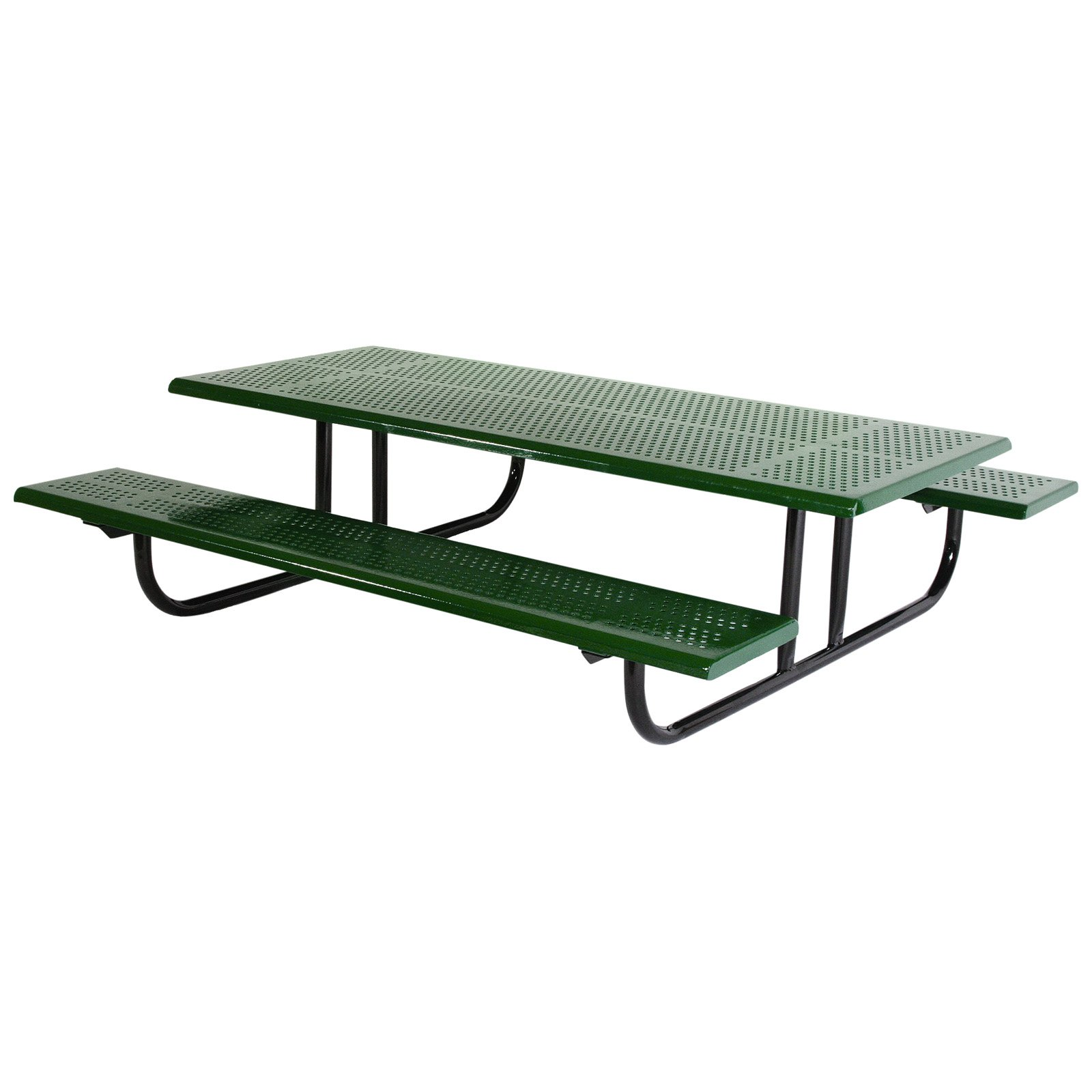 SportsPlay Early Years 6 ft. Perforated Thermoplastic Steel Picnic Table-Black-Black