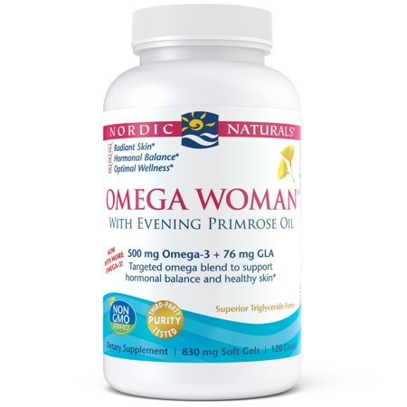 Nordic Naturals Omega Woman Softgels, 500 Mg, 120 Ct