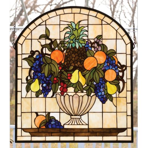 Meyda Tiffany 13297 Stained Glass Tiffany Window from the Garden Flowers Collect by Meyda Tiffany
