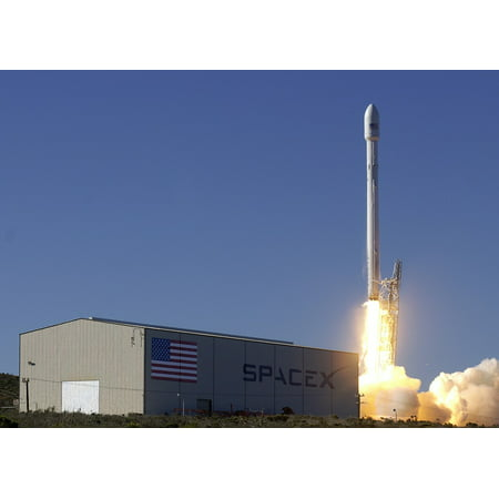Laminated Poster Lift Off Launch Rocket Launch Spacex Flames Poster Print 24 X 36