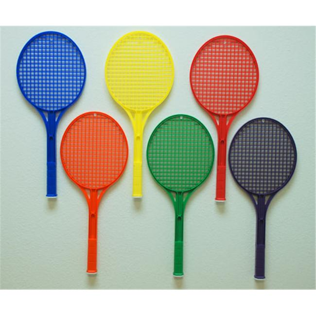Everrich EVB-0058 Rainbow Tennis Rackets Set of 6 Colors by Everrich Industries Inc