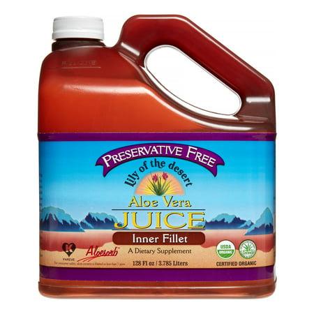 Lily of the Desert Organic Aloe Vera Juice Inner Fillet 128 (Health Benefits Of Organic Aloe Vera Juice)