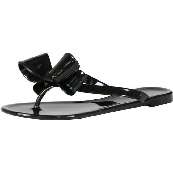3cdfcd049 Kali Footwear - Kali Footwear Women Ribbon Bow Flat Jelly Sandal-White 10 -  Walmart.com