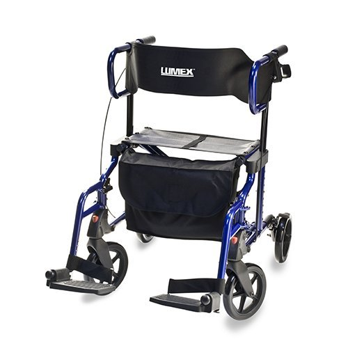 Lumex Hybrid LX Rollator - Blue Transport Chair