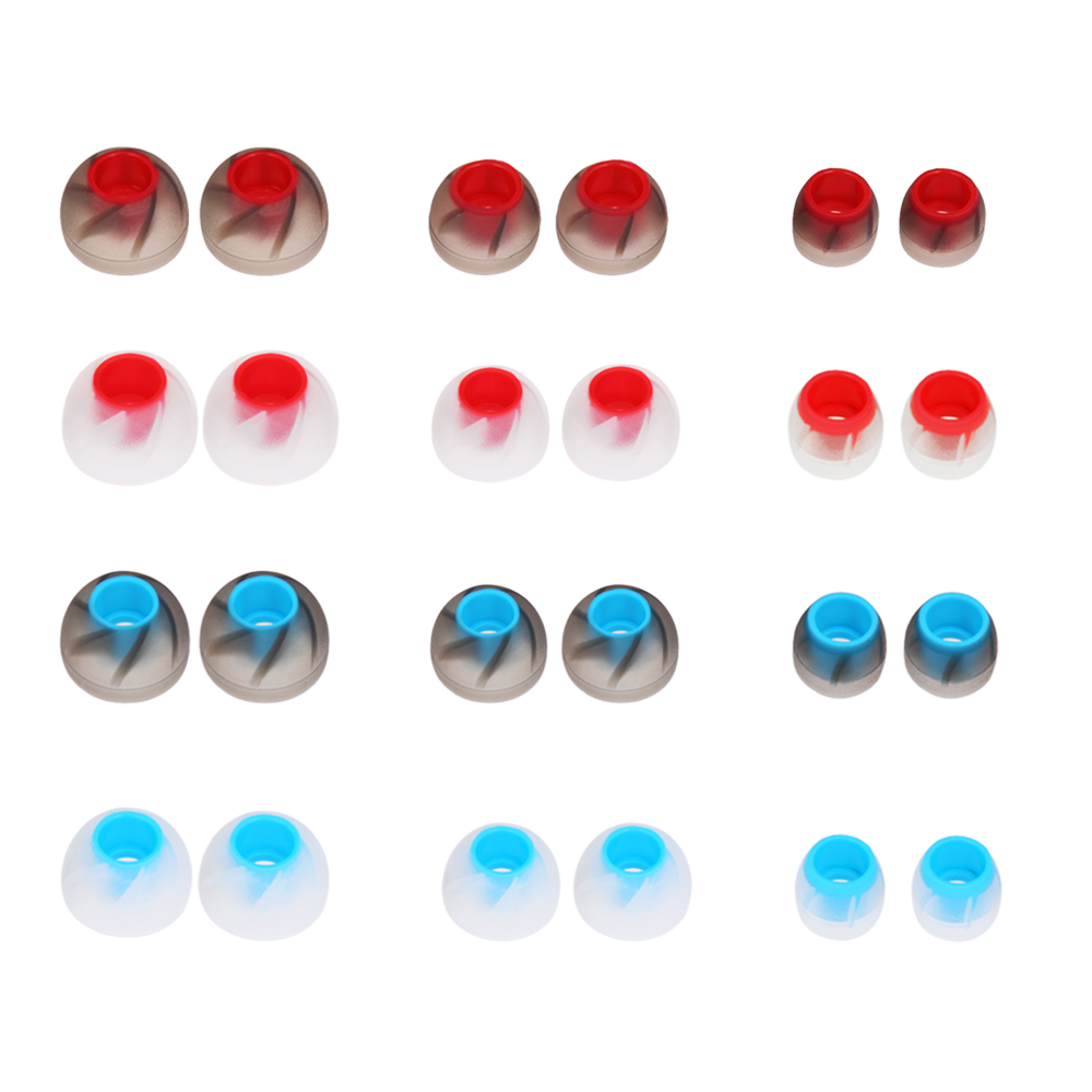 12Pairs 4.5mm Replacement Silicone EARBUD Covers Tips for In-ear Earphones