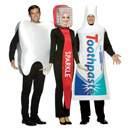 Dental Costume Set - Toothbrush, Toothpaste, Tooth (Toothbrush And Toothpaste Halloween Costume)