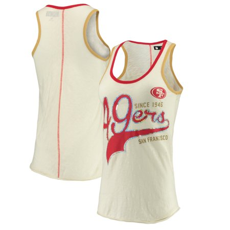 reputable site bbc8c 49b5d San Francisco 49ers G-III Sports by Carl Banks Women's Drop Back Tank Top -  Cream/Scarlet
