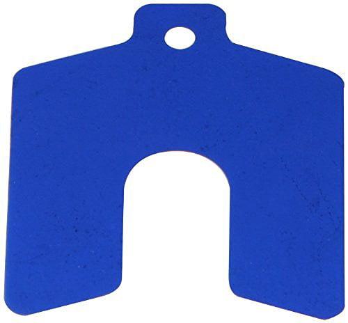 Precision Brand Sof Shoe Shims - 3''x3''x.020'' blue sof'shoe slotted shim