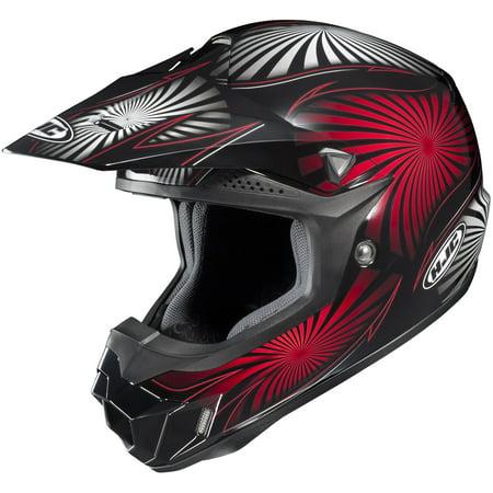 Knit Visor Helmet (HJC 0963-6018-01 Visor for CL-XY Whirl Youth Helmet- MC-1 Red )