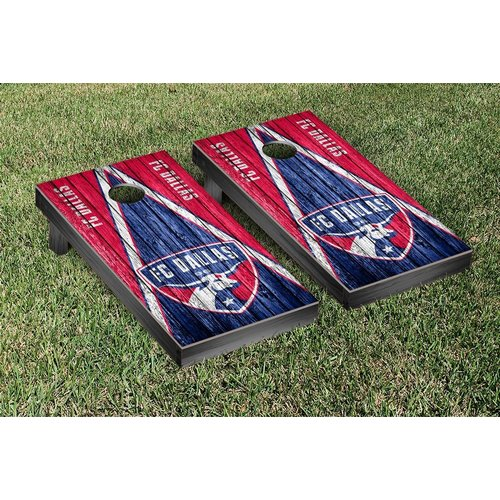 Victory Tailgate MLS FC Dallas FCDSC Soccer Triangle Weathered Version Cornhole Game Set by
