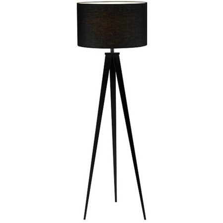 Adesso Director Collection Black Modern Torchiere Tripod Floor Lamp With Shade Walmart Com