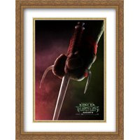 Teenage Mutant Ninja Turtles 28x36 Double Matted Large Gold Ornate Framed Movie Poster Art Print