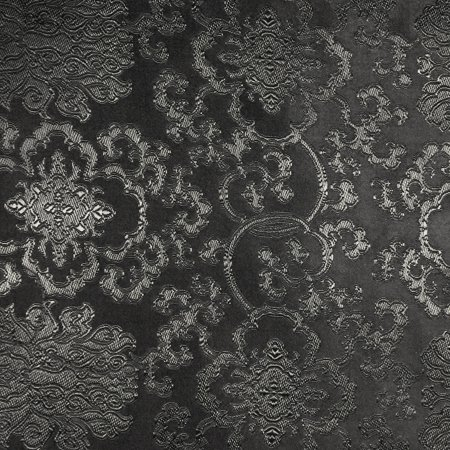 - SHASON TEXTILE COSPLAY ASIAN BROCADE FABRIC, BLACK.