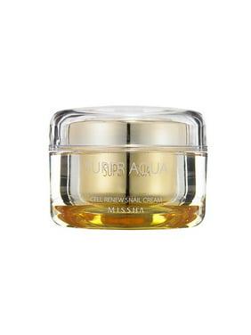 MISSHA Super Aqua Cell Renew Snail Cream, Face Moisturizer, 1.6 Oz