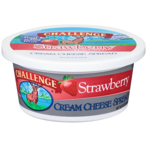 Challenge Strawberry Cream Cheese Spread, 8 oz
