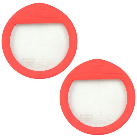 - Pyrex Ultimate OV-7201 4-Cup Red Round Glass Storage Lid (2-Pack)