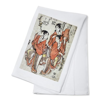 Third Month: Going to a Sumo Match; Fourth Month: Buddha's Birthday Japanese Wood-Cut Print (100% Cotton Kitchen