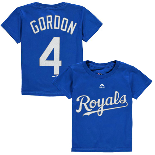 Alex Gordon Kansas City Royals Majestic Toddler Player Name & Number T-Shirt - Royal - 2T