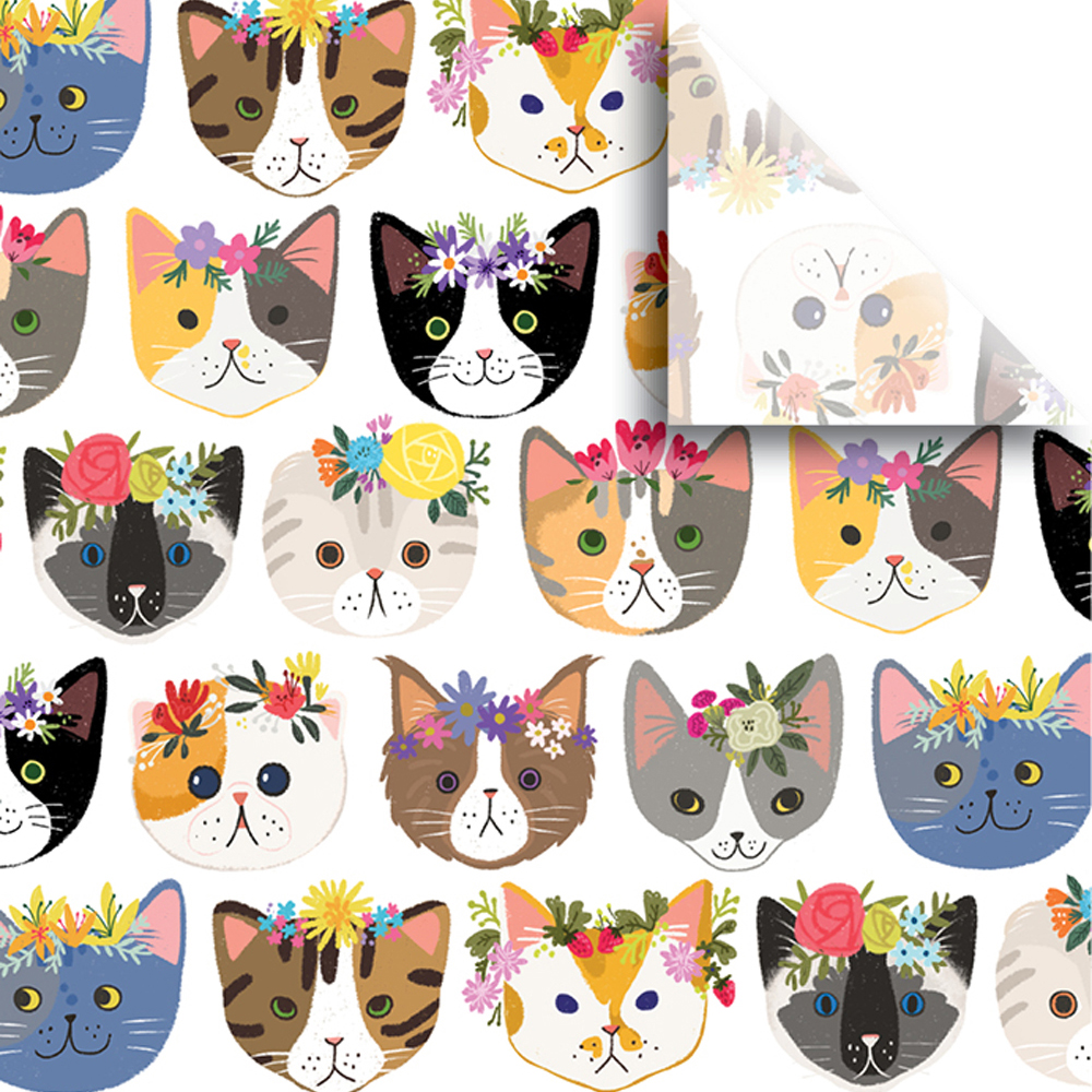 "Jillson & Roberts Printed Gift Tissue 20"" x 30"", Kitty Cats (240 Sheets)"