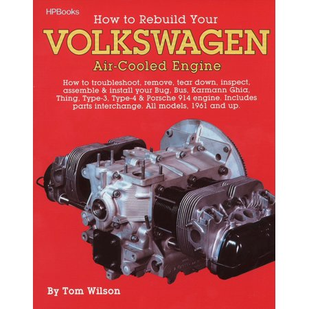 How to Rebuild Your Volkswagen Air-Cooled Engine : How to Troubleshoot, Remove, Tear Down, Inspect, Assemble & Install Your Bug, Bus, Karmann Ghia, Thing, Type-3, Type-4 & Porsche 914