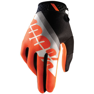 100% Ridefit Glove Slant Orange, M - Men'S