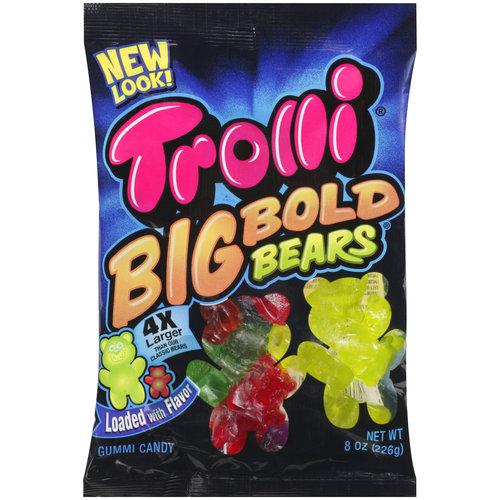Trolli Big Bold Bears Gummi Candy, 8 oz