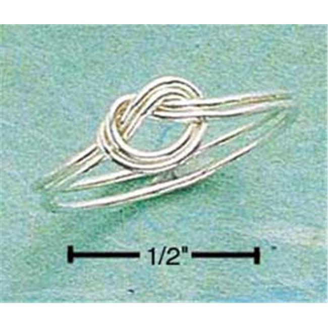 Plum Island Silver SR-0520-07 7 in. Sterling Silver Double Wire Love Knot Ring