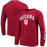 Indiana Hoosiers Fanatics Branded Distressed Arch Over Logo Long Sleeve Hit T-Shirt - Crimson