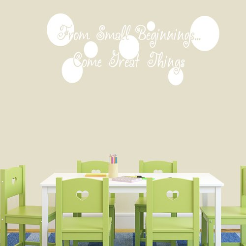 Ebern Designs Galvin From Small Beginnings Come Great Things Wall Decal