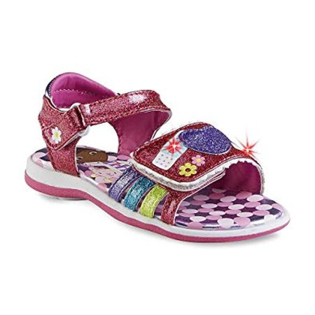 Disney Toddler Girl's Doc Mcstuffins Sandal Pink Glitter Light-up