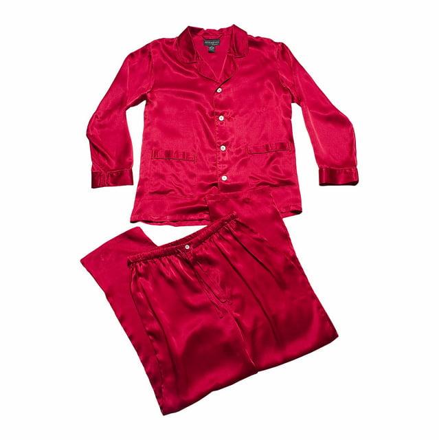 Intimo Men's Solid Silk Pajama Sleep Set