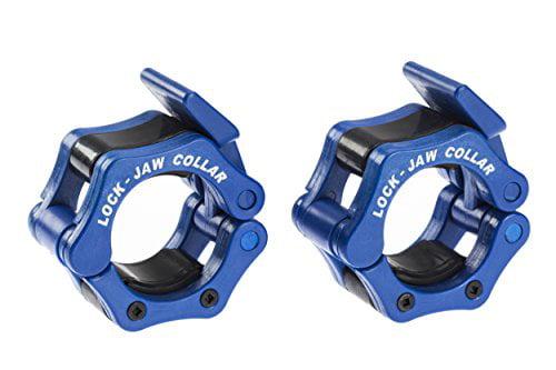 Lock-Jaw 1 Inch Barbell Collar Pair Black Free Shipping