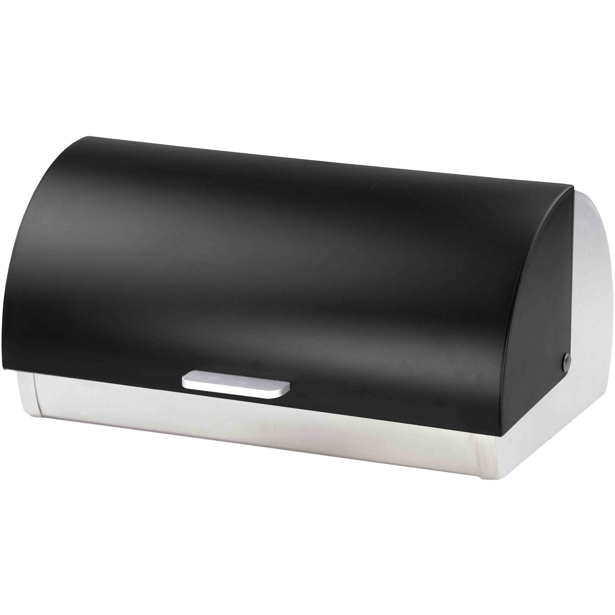 Tin bread box drawer insert - Home Basics Bread Box Acrylic And Black Stainless Steel