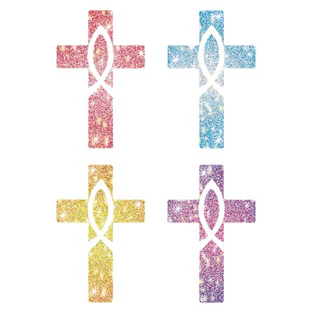 Cross Stickers (DAZZLE STICKERS CROSSES 120/PK ACID & LIGNIN)