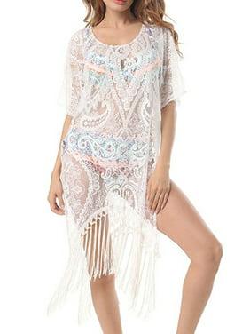 709ab46068ef Product Image Women Swimwear Beachwear Tassel Floral Bikini Beach Wear Cover  Up Kaftan Sarong Summer Dress