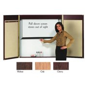 Aarco WC-2 Laminate Conference Cabinet - Walnut