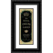 Garden View IX - Royal English 2x Matted 14x24 Black Ornate Framed Art Print by Audit, Lisa