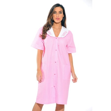 Dreamcrest Short Sleeve Duster / Housecoat / Women Sleepwear - Orange Robe