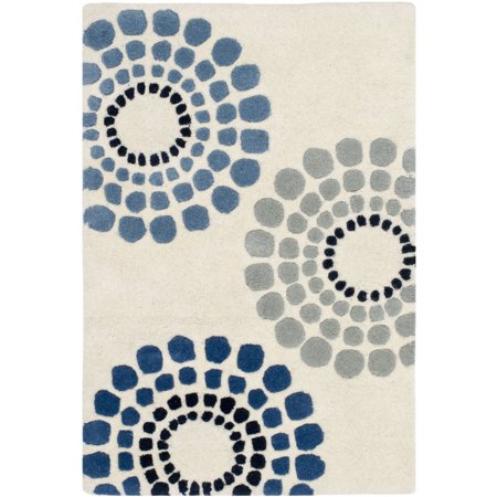 Safavieh Soho Louise Polka Dots Wool Area Rug or Runner (Cotton Polka Dot Rug)