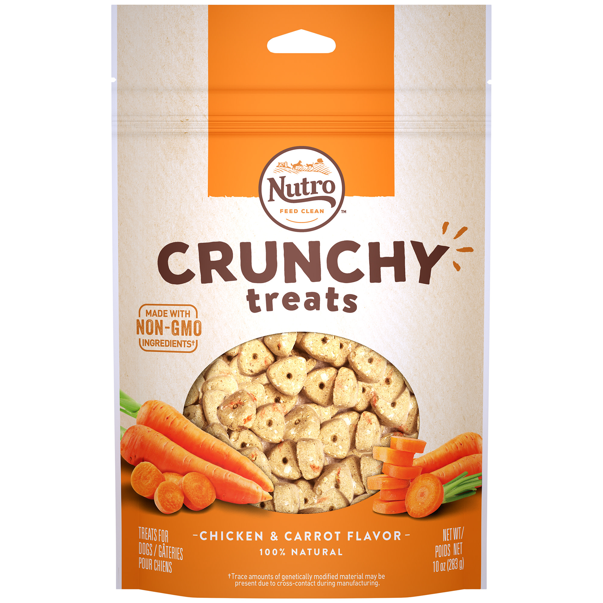Nutro Crunchy Dog Treats, Chicken & Carrot Flavor, 10 Oz Bag by Mars Petcare Us