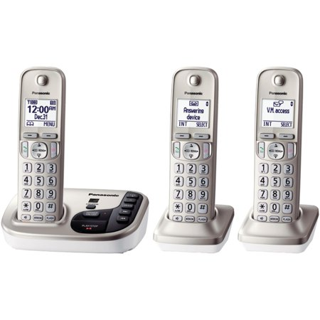 Panasonic Kx Tgd223n Dect 6 0 Plus Expandable Digital Cordless Answering System  3 Handset System