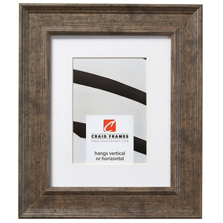 Craig Frames Revival, 11 x 17 Inch Tarnished Silver Picture Frame Matted to Display an 8 x 12 Inch Photo