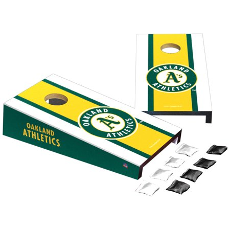 Oakland Athletics Stripe Design Desktop Cornhole Game Set - No Size Oakland Athletics Design