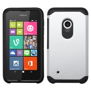 For Lumia 530 Silver/Black Hybrid Astronoot Phone Protector Cover Caser