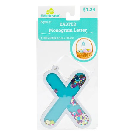 Way To Celebrate! Easter Fun-Fetti Monogram - Letter X Personalize your Easter baskets this holiday season with these Fun-Fetti Monogram Letter Tags! These tags come ready to hang and filled with colorful confetti in any letter of your choosing. You can spell out a full name or just choose the initials of your friends and family, the possibilities are endless!