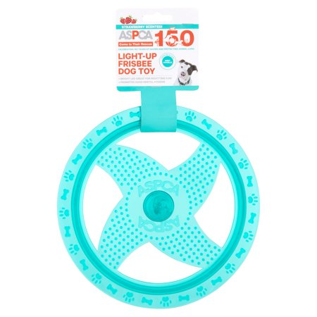Aspca Strawberry Scented  Blue Light Up Frisbee Dog Toy